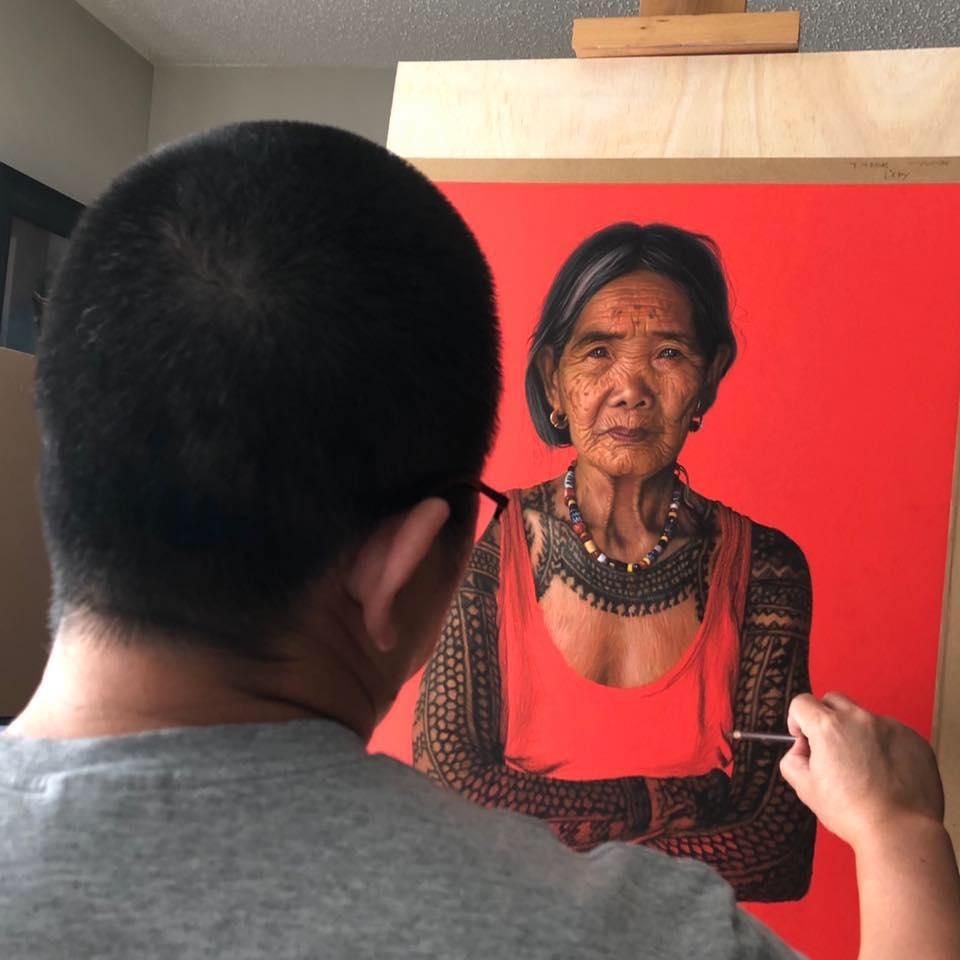 gary carabio painting maria oggay tattoo artist