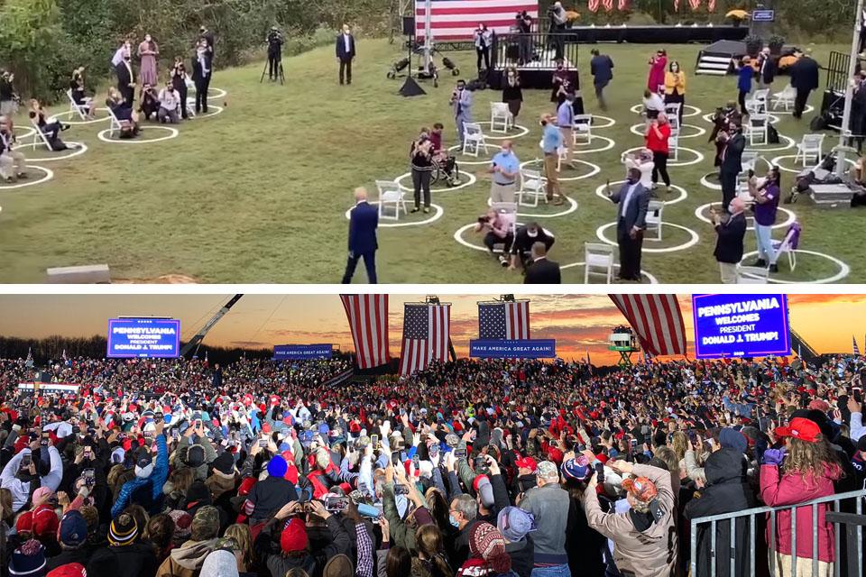 trump vs biden rally